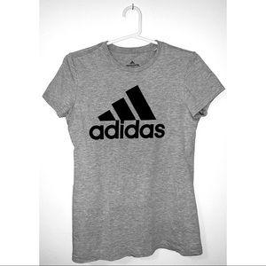 Adidas Women's Grey Logo Tee